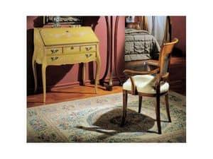 3255 RIBALTINA, Scrittoio in legno decorato a mano, classico di lusso