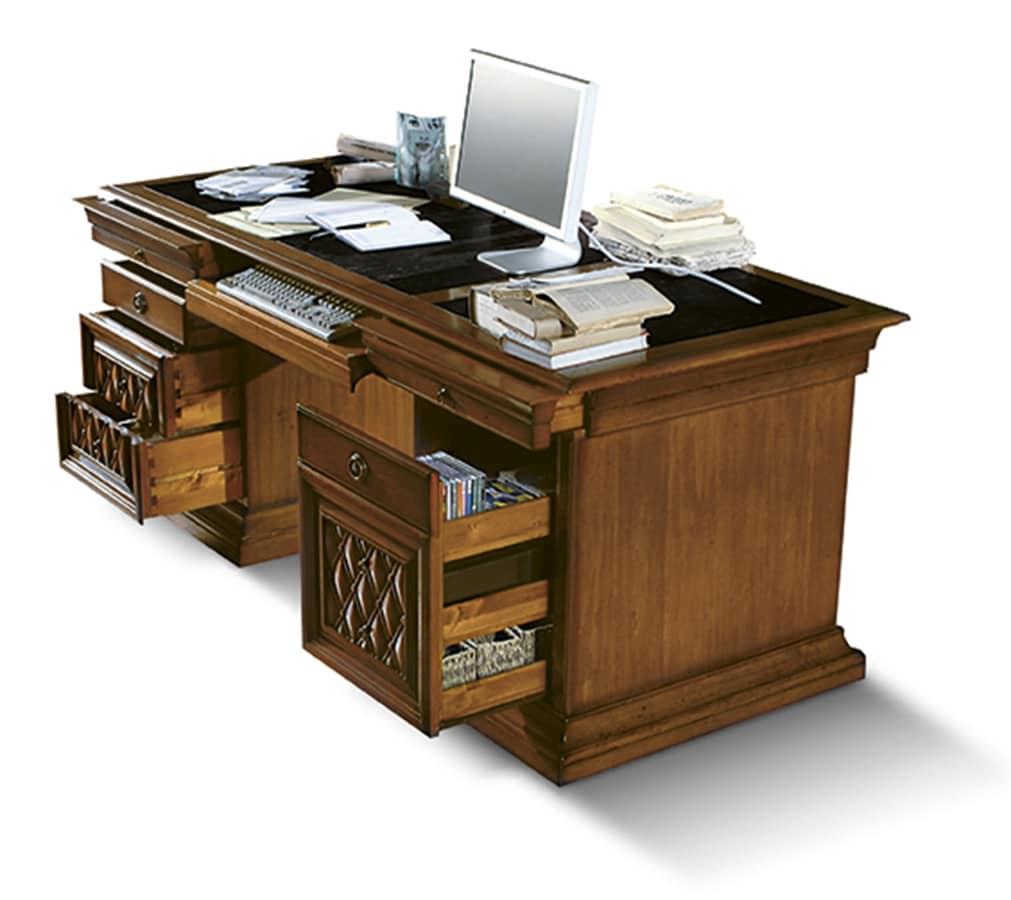 Art 1055v2 scrivanie direzionali studio idfdesign - Scrivanie legno design ...