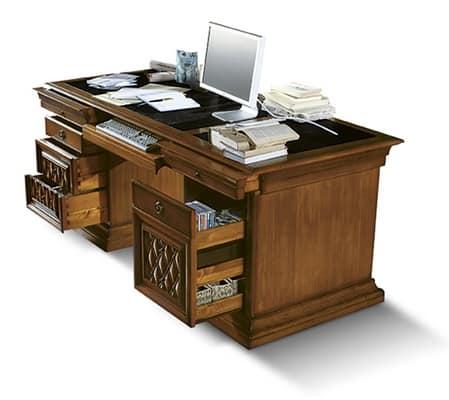 Tavoli scrittoi classici ed in stile in stile e classiche for Scrivanie direzionali di design