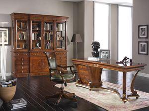 Art. 1250, Elegante scrivania in legno dal design classico