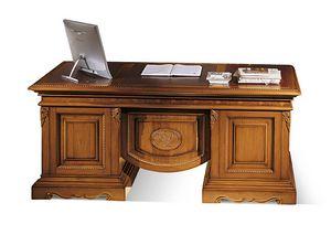 1496V2, Scrivania intarsiata in legno