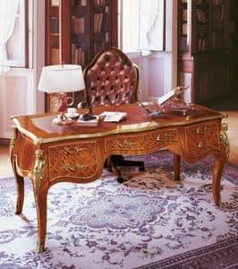 Art. 334, Scrivanie direzionali di lusso, in legno massello, decorata a mano