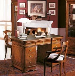 Art. 778/140, Scrittoio in legno massello per Uffici di lusso, con intarsi