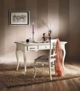Art. H623 SCRIVANIA, Scrivania classica per ufficio, in legno massello, a 3 cassetti