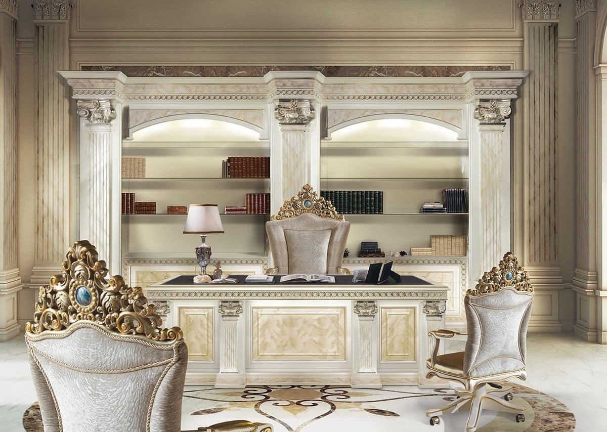 Scrivania intagliata a mano per ufficio presidenziale for Design di bungalow di lusso