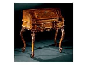 Complements scrittoio 705, Scrittoio classico di lusso in legno intarsiato