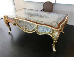 Elegance scrivania, Lussuosa scrivania rivestita in madreperla