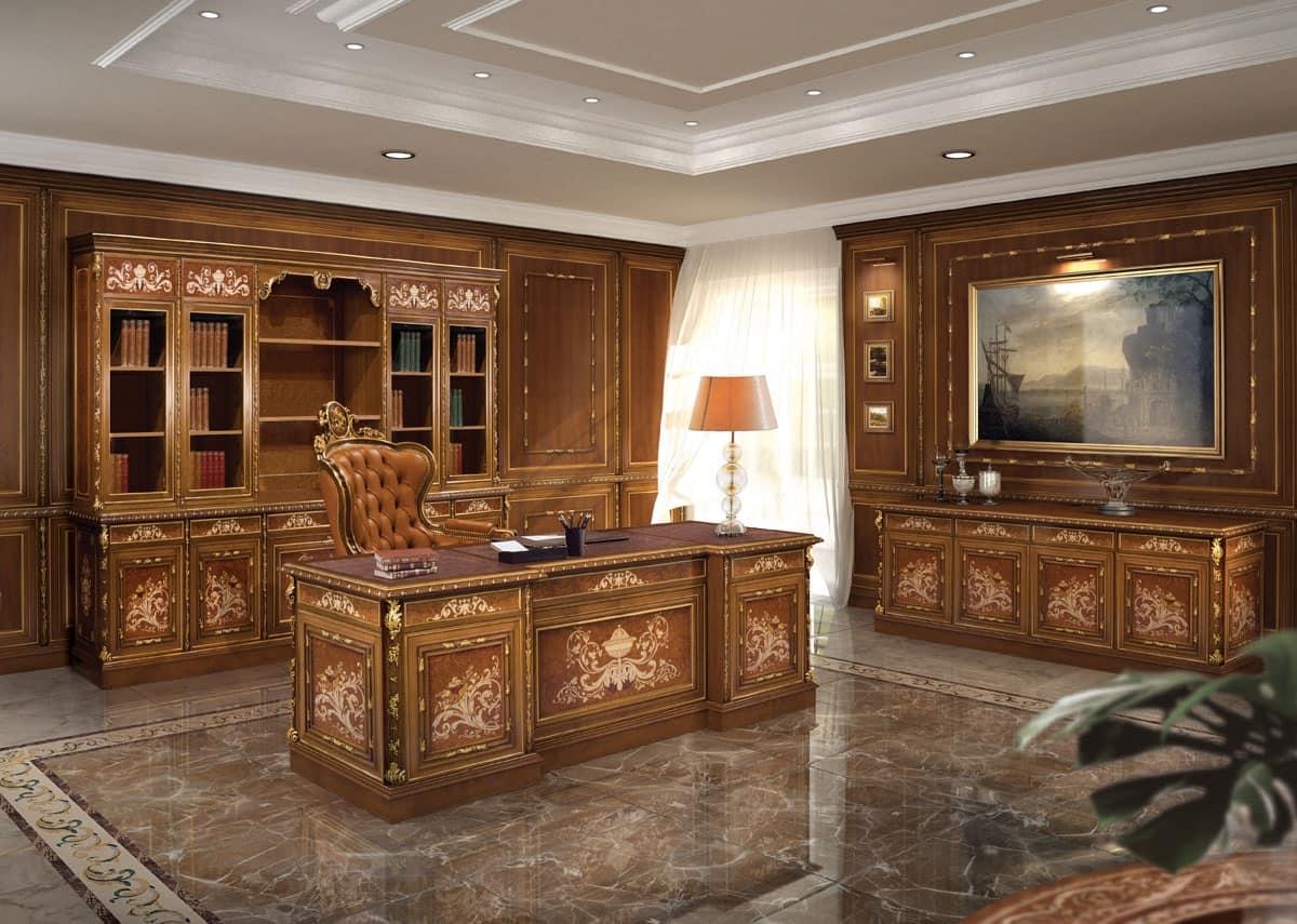 Arredo per ufficio classico di lusso idfdesign - Arredi di lusso casa ...