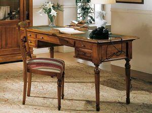 San Marco scrivania, Scrivania classica con piano in pelle