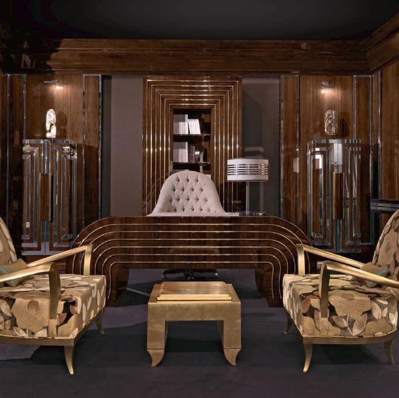 Scrivania in legno curvato per ufficio di lusso idfdesign for Design legno ufficio