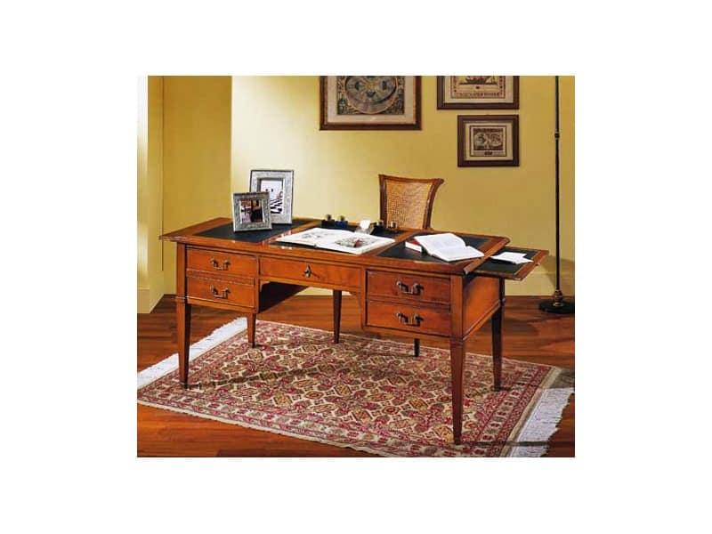 Scrivania in legno di ciliegio per studi e uffici idfdesign - Scrivanie legno design ...