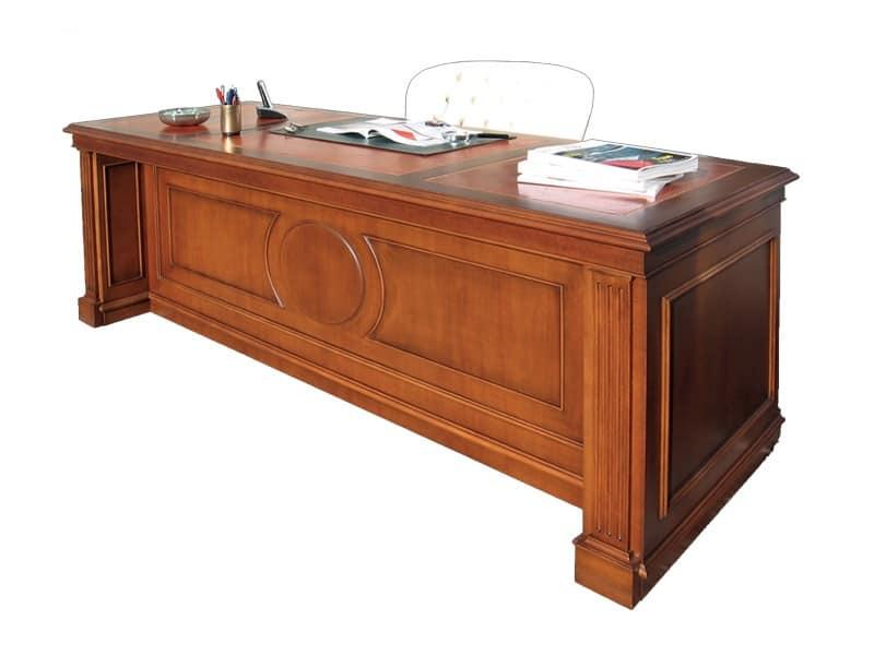 Scrivania in legno per uffici in stile classico idfdesign - Scrivanie legno design ...
