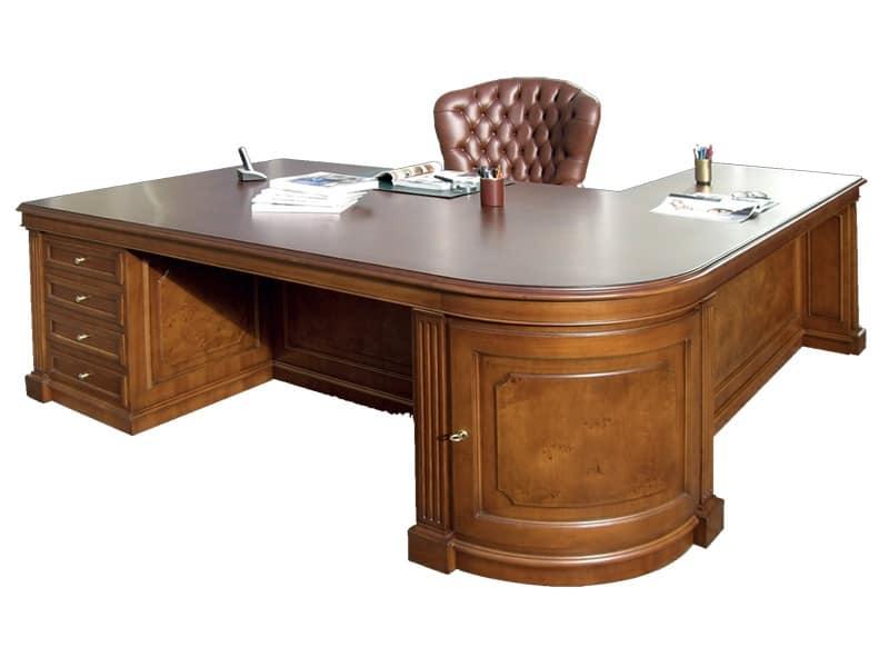 Scrivania Ufficio Legno Massello : Scrivania in legno per ufficio realizzabile su misura idfdesign