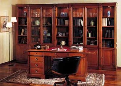 Scrivania Con Libreria Studio Scrivania Con Piano Sagomato E Libreria ...