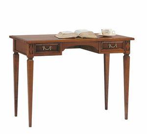 Villa Borghese scrivania 6376, Scrivania in legno con cassetti, stile Directoire