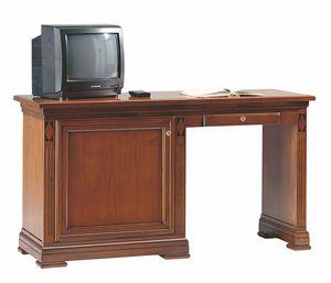 Villa Borghese scrivania minibar SX, Scrivania per albergo, con mobile minibar