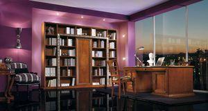 Vivre Lux scrivania, Lussuosa scrivania direzionale, con intagli ed intarsi