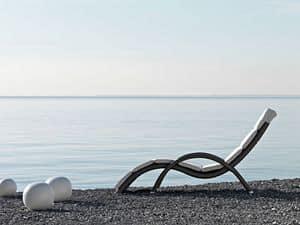 Altea sdraio, Elegante sdraio, intrecciato, per spiaggie e piscine