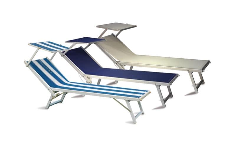 Sdraio prendisole in alluminio per piscina e giardino idfdesign - Lettino piscina alluminio ...
