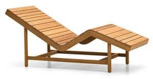 Barcode lettino relax, Lettino relax con doghe in legno, ideale per sauna