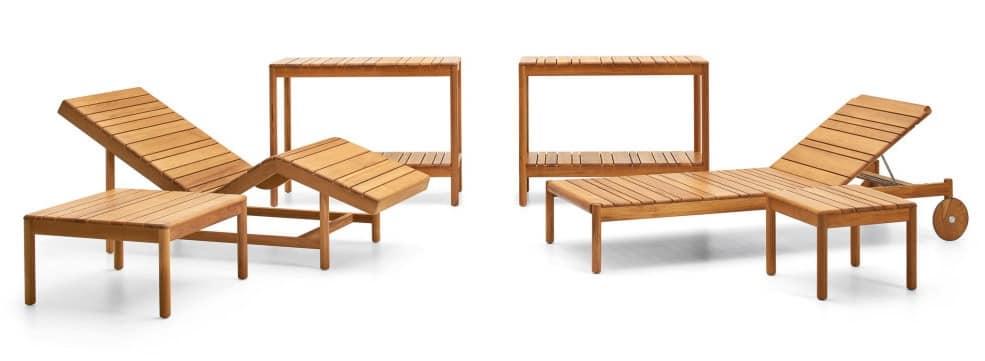 Lettino relax con doghe in legno ideale per sauna idfdesign for Sdraio giardino design