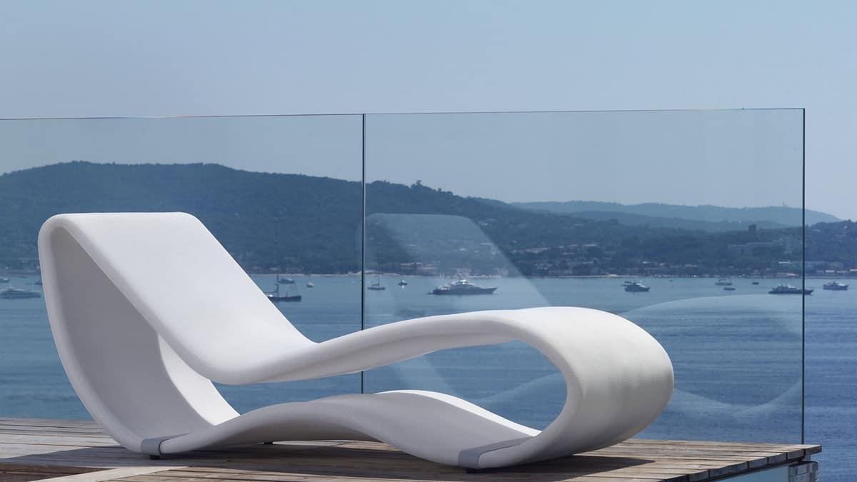 Lettino prendisole in alluminio idfdesign for Piscine da giardino design