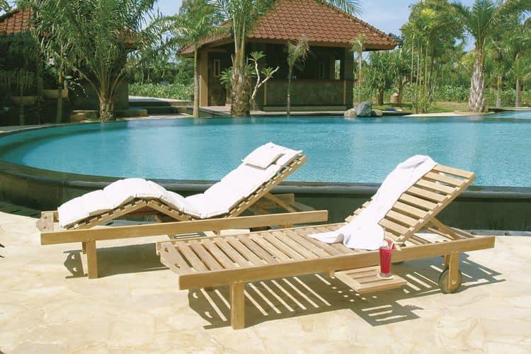 Caracas 504 lettino reclinabile ideale per la piscina e la spiaggia idfdesign - Poggiapiedi piscina ...