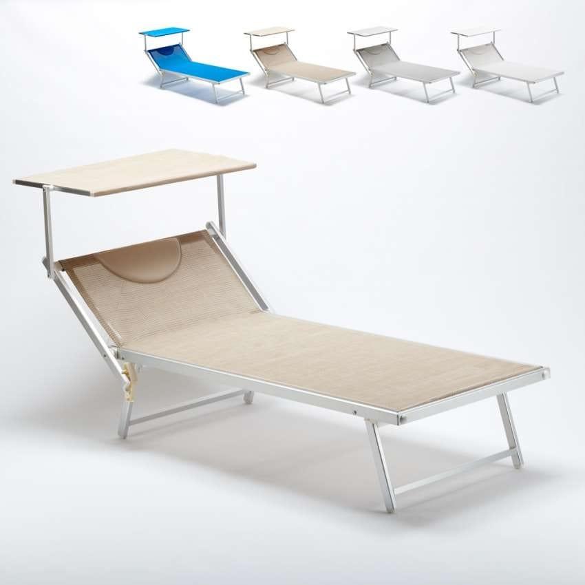 Lettino prendisole di grande dimensioni king size idfdesign - Lettino piscina alluminio ...