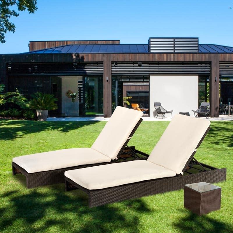 lettini prendisole in rattan per terrazzo e giardino | idfdesign - Lettini Prendisole Per Esterno