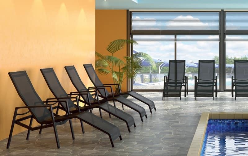 Relax 603 lettini piscina centro estetico idfdesign - Lettini piscina ...