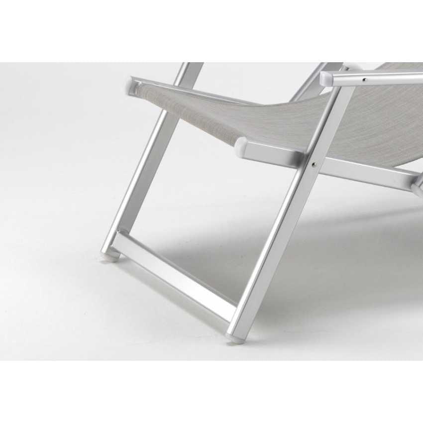 Sdraio con braccioli e schienale reclinabile antistrappo for Sdraio giardino design