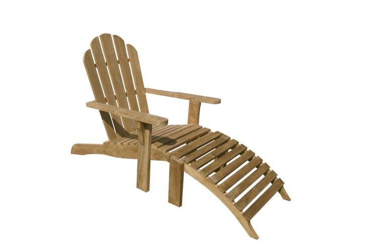 Riviera 502 sedia sdraio in legno di teak con poggiapiedi for 3 piani di design da spiaggia