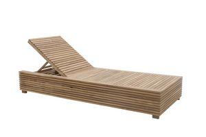 Saint Tropez 0517, Lettino sdraio reclinabile con tavolino estraibile