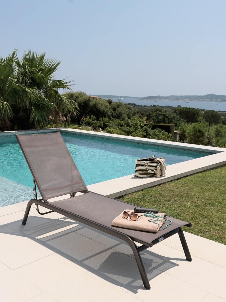 Lettino prendisole impilabile e reclinabile idfdesign - Lettini piscina ...