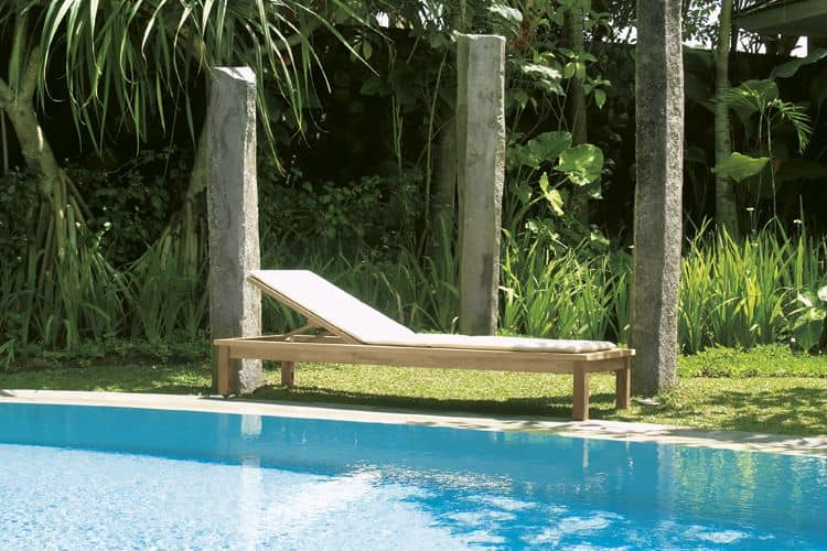 Sunseeker 516 lettino sdraio dotato di schienale for Sdraio giardino design
