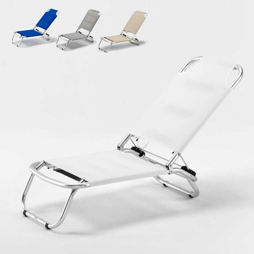 Sedie Pieghevoli Per Il Mare.Sdraio In Alluminio E Tessuto Textilene Ideale Per La Spiaggia