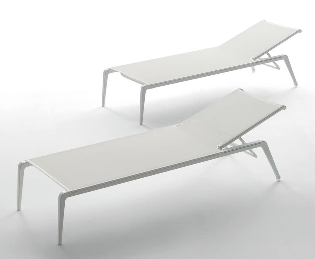 Lettino prendisole in alluminio per piscine e spiagge - Lettino piscina alluminio ...