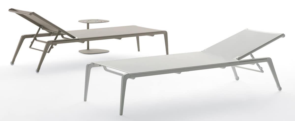 Lettino prendisole in alluminio per piscine e spiagge idfdesign - Lettino piscina alluminio ...