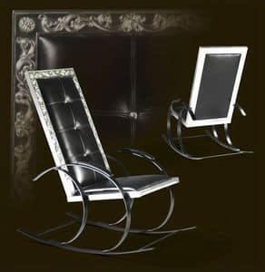 Sedute sedie a dondolo idfdesign for Sedia a dondolo in pelle