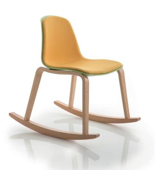 Sedia a dondolo moderna ideale per zone relax idfdesign - Schaukelstuhl gepolstert ...