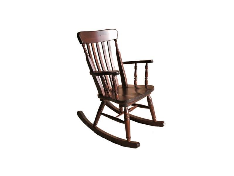 Sedia a dondolo in pino per taverna rustica idfdesign for Sedie a dondolo
