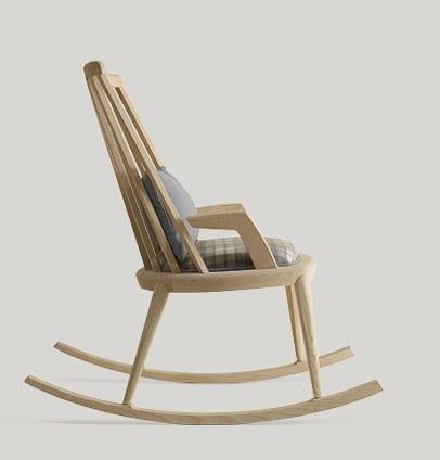 Udinì sedia a dondolo, Sedia a dondolo in legno di frassino
