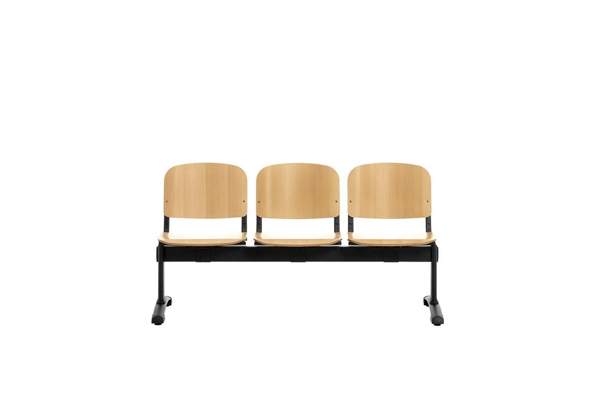 Leo Wood Bench, Panche attesa con seduta in legno