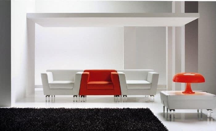 INOUT, Poltrona imbottita componibile, per Hall e uffici