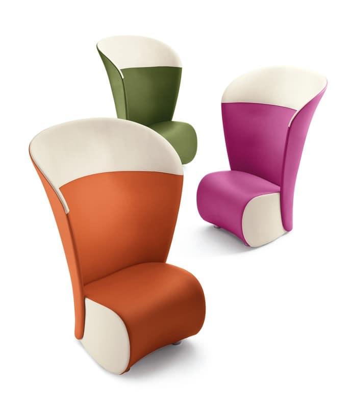 Poltrona con schienale alto di vari colori per sala - Poltrone di design moderno ...