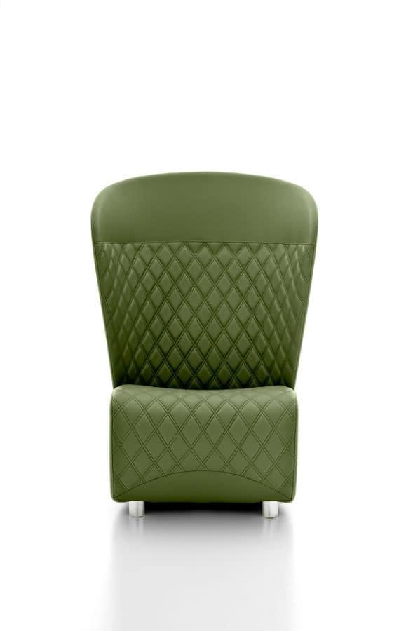 Poltrona moderna con tessuto trapuntato schienale alto for Poltrona design amazon