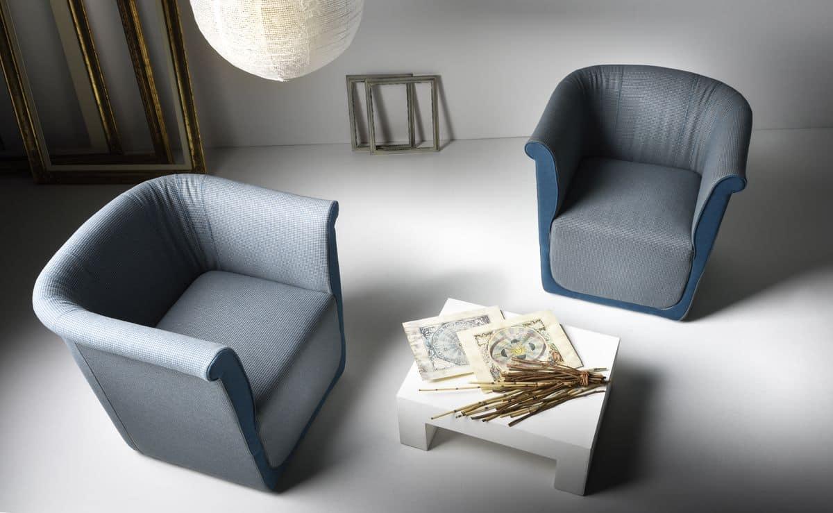 Liz poltrona, Poltrona comoda in poliuretano, per area lounge
