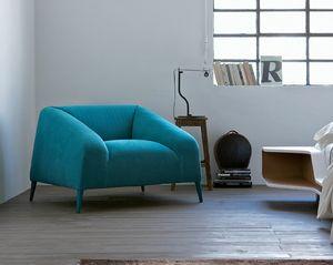 Sebastian poltrona, Poltrone comode, rivestimento in tessuto, colori moderni