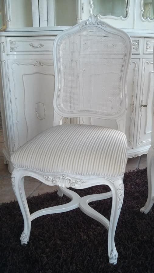 3310 SEDIA LUIGI XV, Sedia con schienale in canna, Luigi XV
