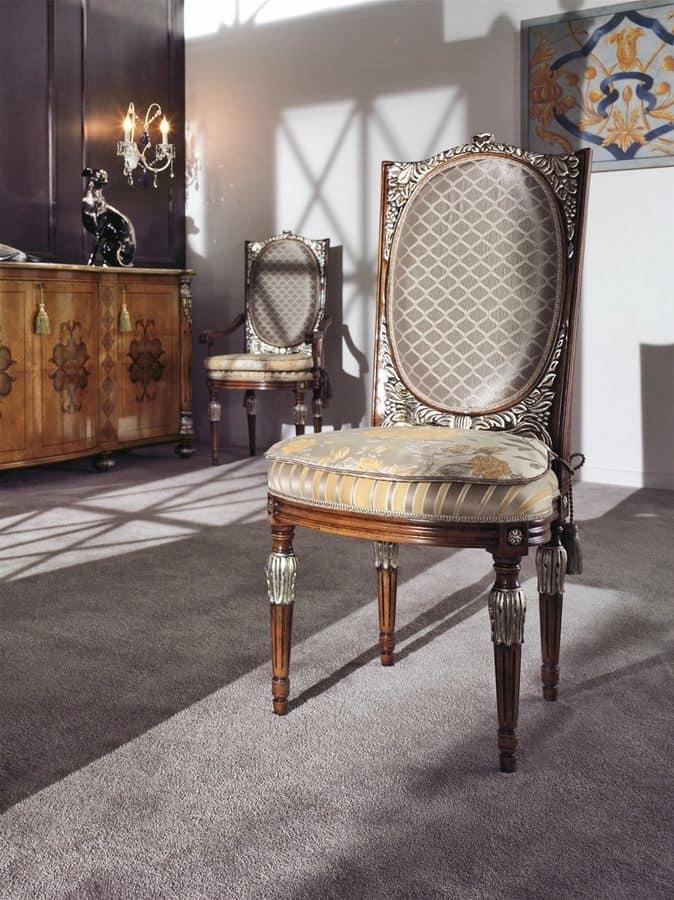 Sedia in faggio classica di lusso per la sala da pranzo - Sedie classiche per sala da pranzo ...
